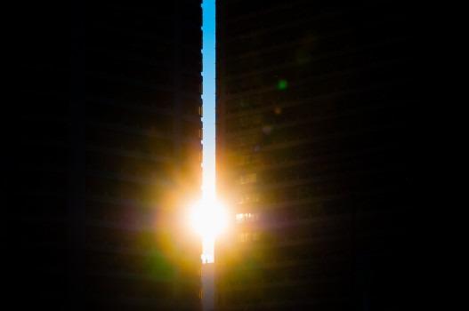 Philadelphie - Le soleil entre deux immeubles