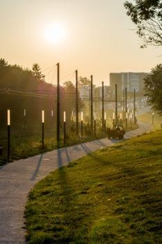 Lever de soleil sur Le Havre, quartier Montgaillard / rue de la Bigne à Fosse
