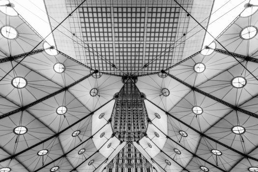 Arche de la Défense. Architectes : Johann Otto von Spreckelsen, Paul Andreu et Peter Rice
