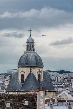 Paroisse Saint Paul Saint Louis depuis l'Institut du Monde Arabe