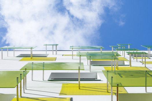 Boulevard Davout / Rue Lagny. 70 logements collectifs sociaux et équipement. Architecte : Bernard Bühler