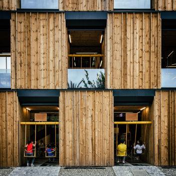 Pavillon de l'Estonie à l'Exposition Universelle de Milan 2015. Architecte : Kadarik Tüür Arhitektid