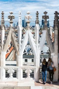 Vue du Duomo de Milan