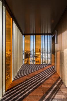Tour de logements HOME Zac Masséna à Paris. Architecte : Hamonic et Masson