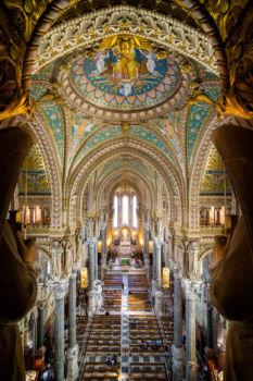 Basilique Notre-Dame de Fourvière. Architectes : Pierre Bossan, Louis Sainte-Marie Perrin. 1872-1884